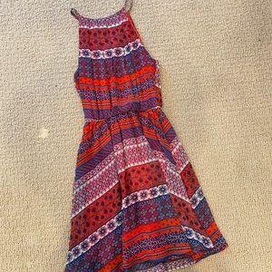 Lush red high neck dress